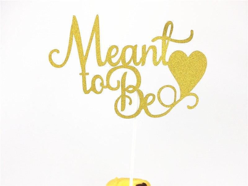 1 stücke 10*15cm Gold Glitter Bedeutete Kuchen Topper Braut Dusche Engagement Partei Kuchen Dekorationen