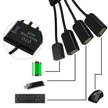 Besegad USB Hub 4 in 1 Micro USB OTG Hub-kabel-anschluss Spliter für Smartphone Computer Laptop Tablet PC Power Lade USB Hub Kabel