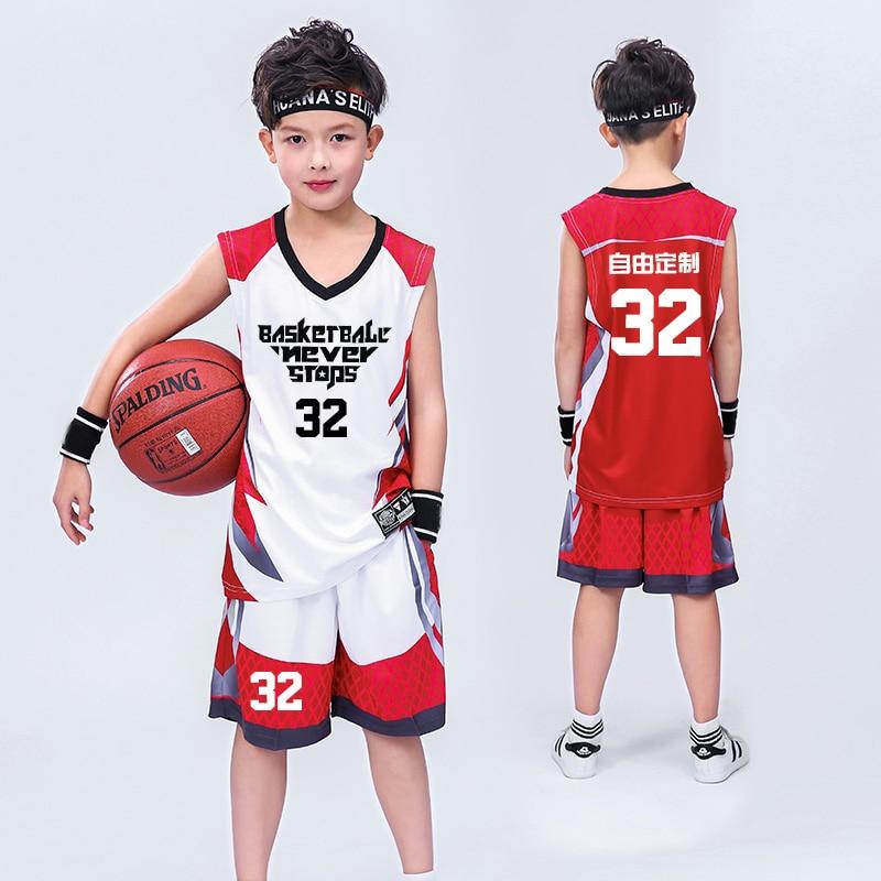 Детский баскетбольный трикотажный тренировочный комплект для мальчиков костюмы