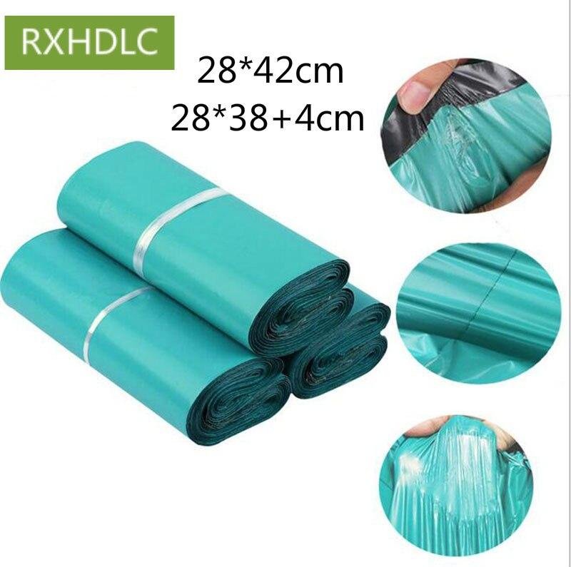 Gran tamaño, alta calidad, 28*42cm, bolsa verde Express, bolsa de correo de poliéster, bolsa de plástico autoadhesiva con sello, 1000 Uds., envío gratis por DHL