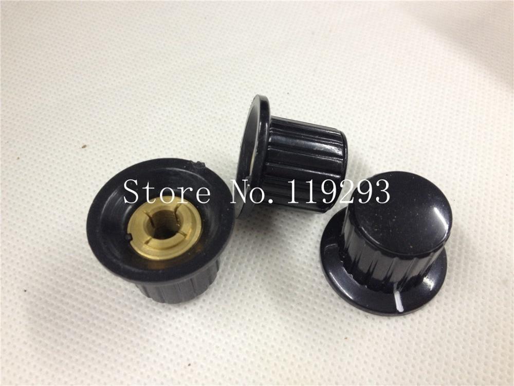[BELLA]Potentiometer knob plastic knob cap KYP25-18-6J K4 copper knob nut black clamshell--100PCS/LOT