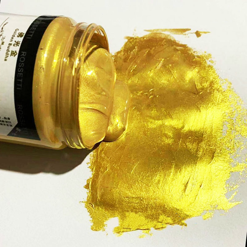 Envío Gratis estatua de Buda de alta gama al aire libre 300ml luz budista metálica pintura dorada pintada a mano pintura acrílica pintada DIY