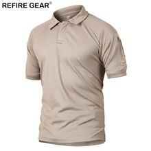 Refire Gear Outdoors letnia koszulka z krótkim rękawem Tactical Camping koszulka z krótkim rękawem mężczyźni polowanie turystyka szybkie suche oddychające koszule