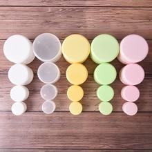 10/20/50/100G  Plastic Portable Cosmetic Travel Empty Jars Pots Makeup Cream Liquid Moisturizer Lip Balm Container Pocket