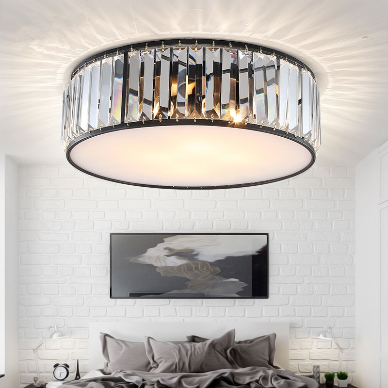 Modern Led Ceiling Lights Crystal Living room decor Creative Black Lamp For Bedroom Kitchen Dining Room Corridor lampy sufitowe  - buy with discount