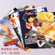 8 pièces/ensemble Katekyo Hitman Reborn poster tsunaysst/Hayato/Takeshi anime figurs affiches lot pour murs 42x29cm livraison gratuite