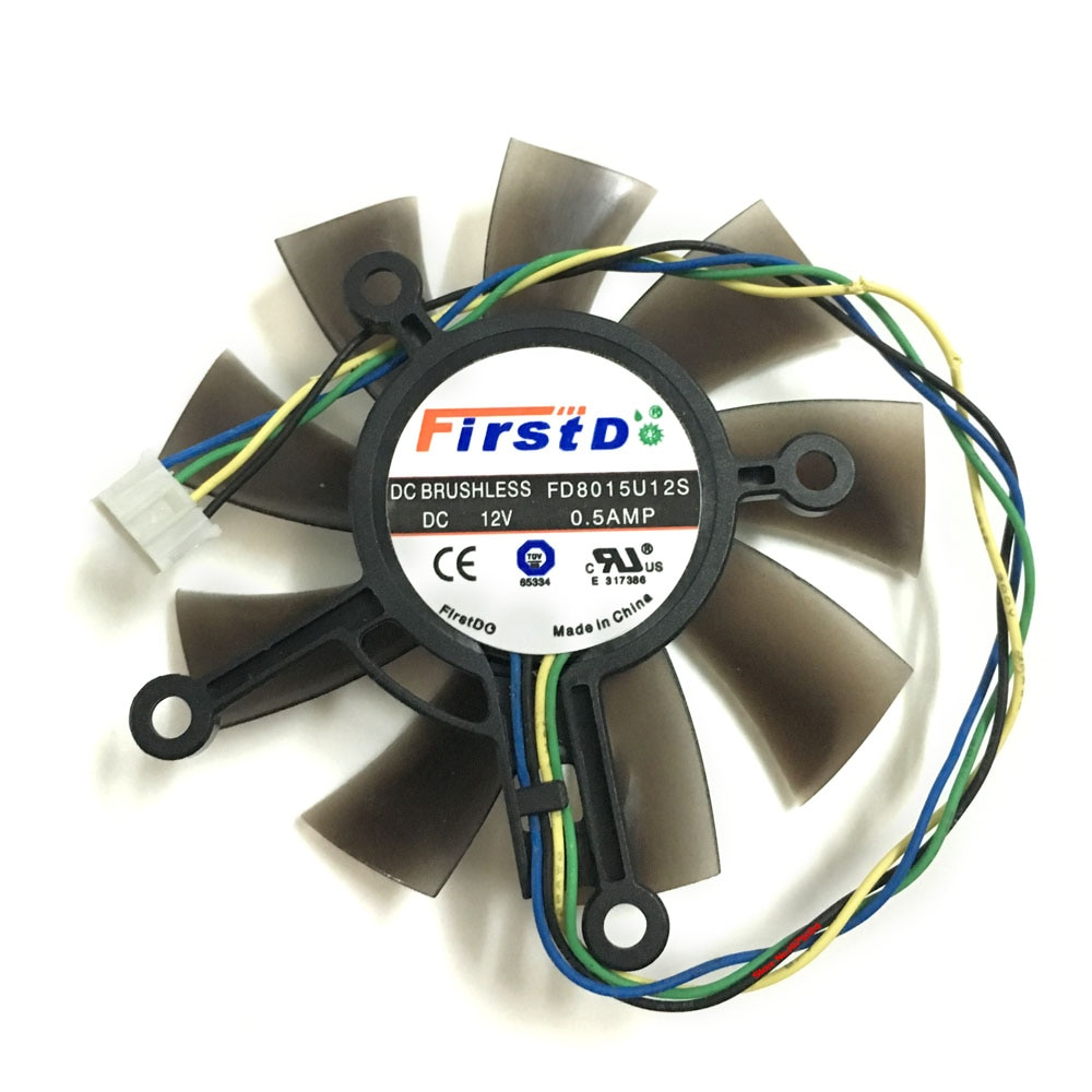 Кулер FD8015U12S 0.5A для видеокарты ASUS GTX 1050ti/750/750ti GTX1050ti GTX750 GTX750ti