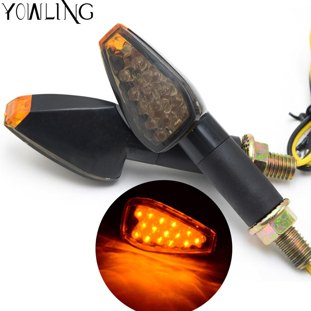 Luces de señal de giro para motocicleta luces traseras intermitentes para Honda Hornet CB600 CB750 CB900 CB919 CB250 CB400