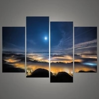 4 pcs light modular pictures heavens wall art picture modern home decoration living room or bedroom canvas wall picture