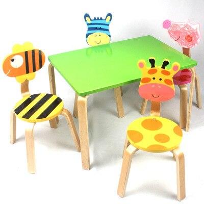 Детские комплекты мебели, 1 стол + 4 стула, комплекты из цельного дерева, детская мебель, детский учебный стол, набор mesa y silla infantil, новинка 70*48*74 см