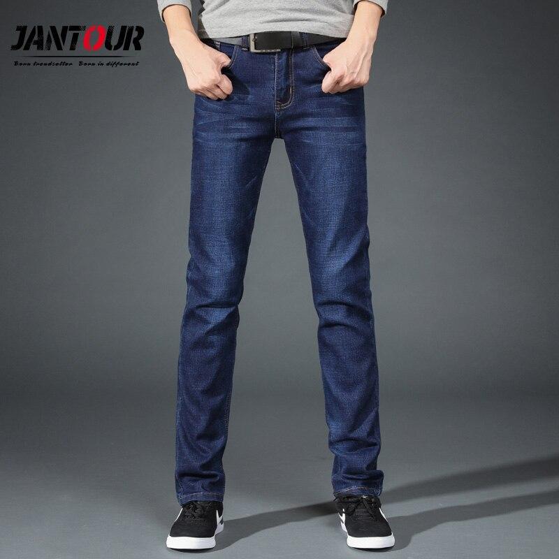 Мужские прямые джинсы от известного бренда jantour хлопковые длинные большие