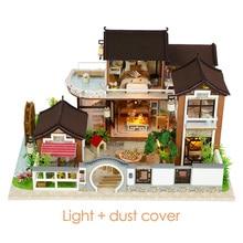 Diy Poppenhuis Miniatuur 3D Poppenhuis Met Meubels Vintage Building Kits 3D Huis Voor Poppen Speelgoed Voor Kinderen Verjaardagscadeau