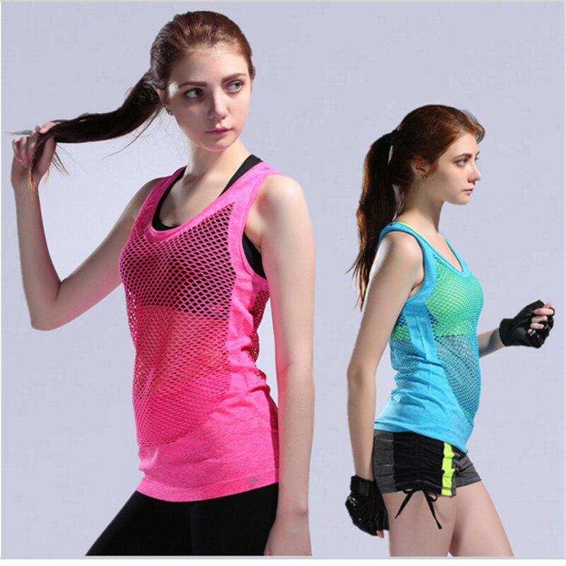 Camiseta deportiva de malla para mujer, camisetas deportivas transpirables de secado rápido...