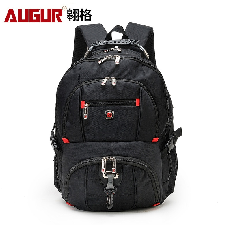 AUGUR Laptop Backpack Men's Women'sTravel Bags 2017 Multifunction Rucksack Waterproof Oxford Black S