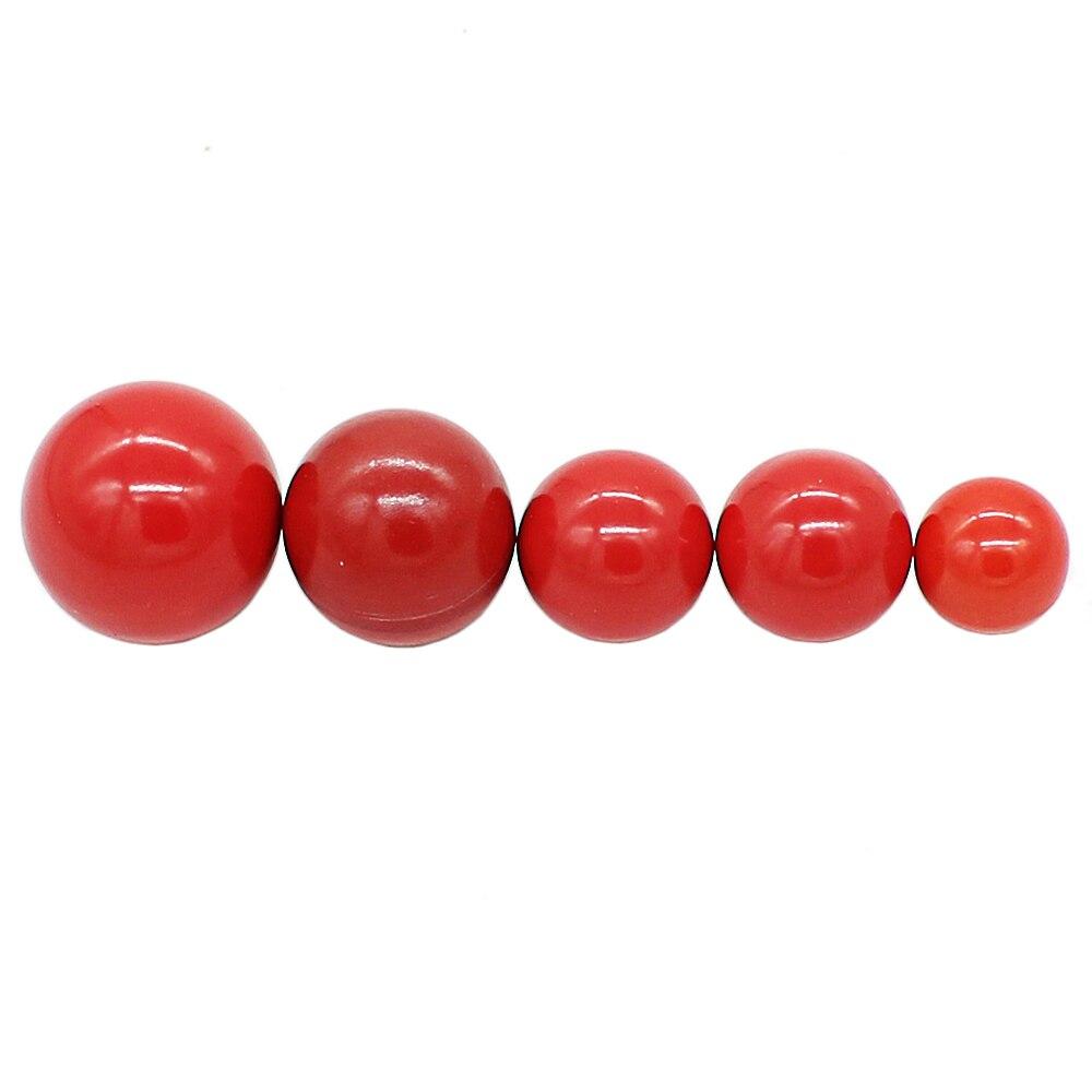 5 pçs m4 m5 m6 m8 m10 vermelho cobre núcleo diâmetro baquelite bola alavanca botão