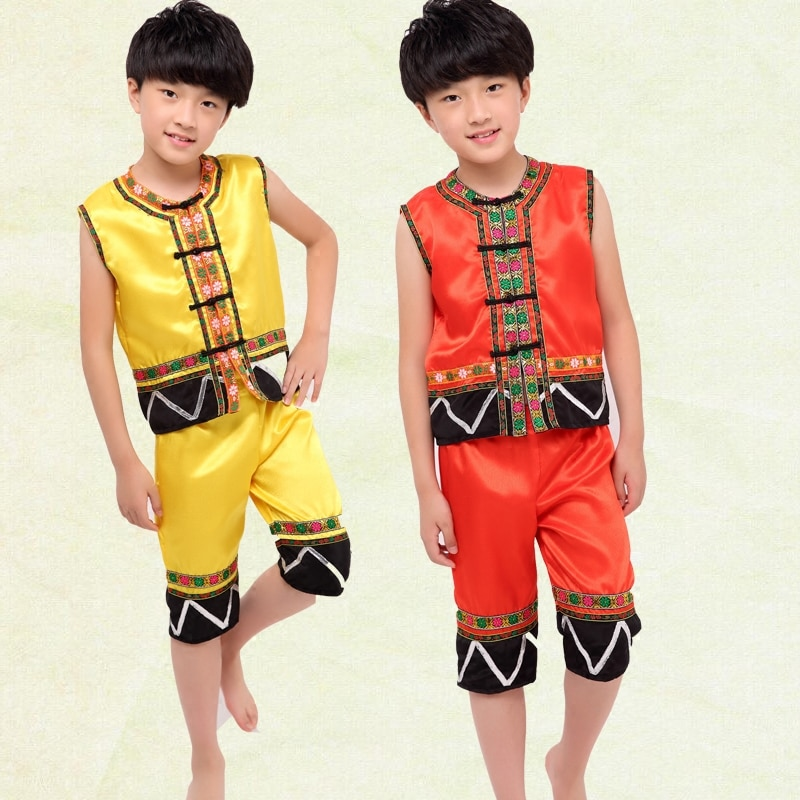Trajes chinos de baile tradicionales clásicos para niños Miao ropa Hmong tradicional Hmong-ropa China nacional