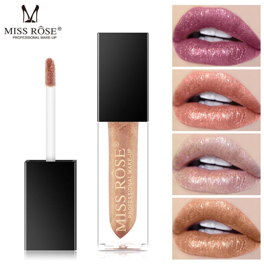 MISS ROSE Waterproof Long Lasting Mermaid Tattoo Tint Shimmer Lip Gloss Brand Liquid Lipstick Lip Glaze Lips Plumper Makeup