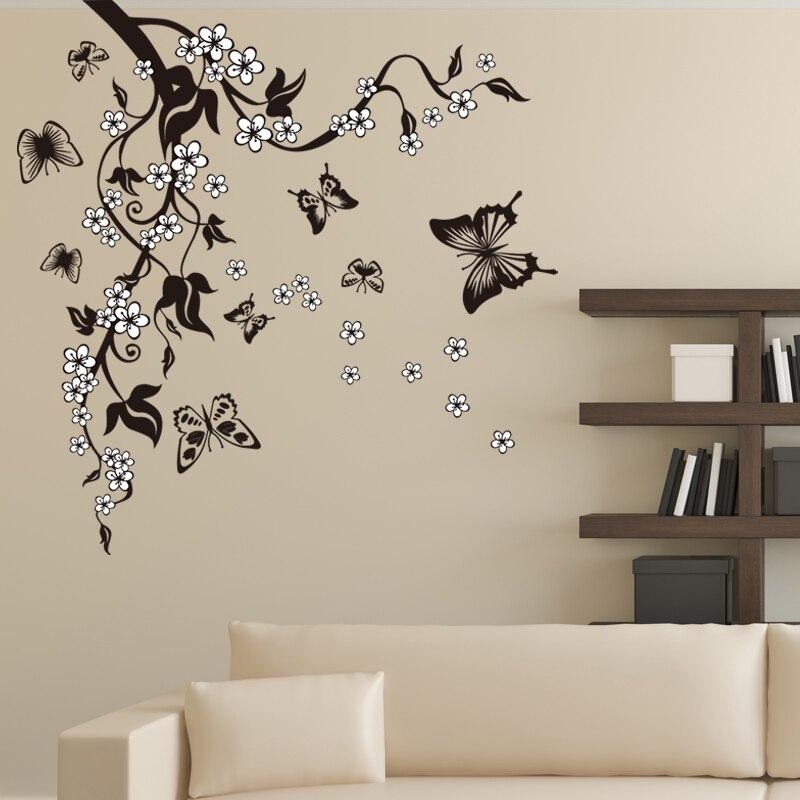 Pegatinas decorativas para pared de mariposas Feifei, decoración de vinilo, Mural para el hogar, sala de estar, TV Art