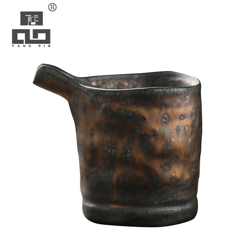 TANGPIN-إبريق شاي سيراميك ، مصنوع يدويًا ، شاي الكونغ فو الصيني ، إكسسوارات ، 260 مللي