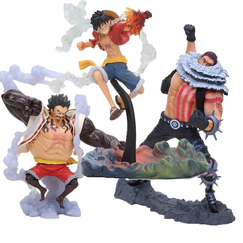 Figura del Anime One Piece, rey del artista KOA Battle Ver. Mokey D Luffy VS Charlotte Katakuri, figura de acción de PVC, juguetes en miniatura