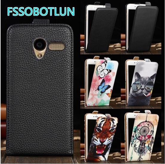 FSSOBOTLUN Para Alcatel One Touch Pop D3 OT Onetouch 4035A 4035D 4035X 4035Y Caso vertical telefone bag virar capa de Couro PU cobrir