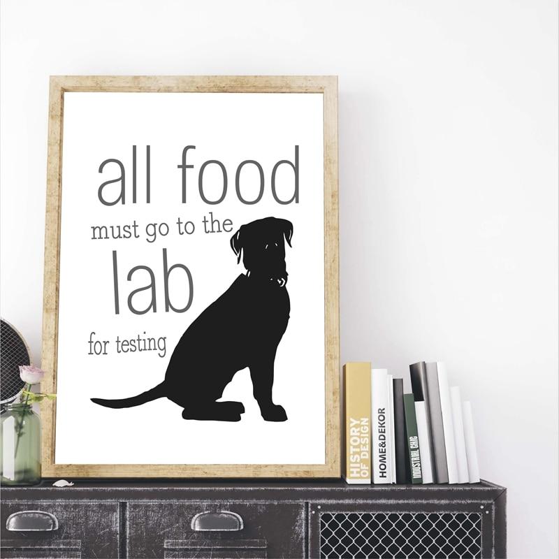 Черный лабрадор с принтом собаки, подарок любителю, лабораторный плакат, Лабрадор Ретривер, забавная собака, художественная живопись на хол...