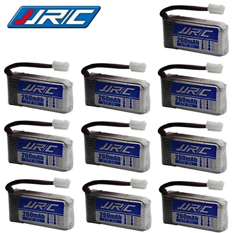 JJRC H36 Original de la batería de 3,7 V 260mAh para E010 E011 E012 E013 Furibee F36 piezas de cuadricóptero de control remoto 3,7 v batería de Lipo de 1-10 Uds