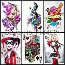 Suicide Squad Poster 5d Diy Diamond Painting Harley Quinn Diamond Embroidery Cross Stitch Full Rhinestone Diamond Mosaic Wall