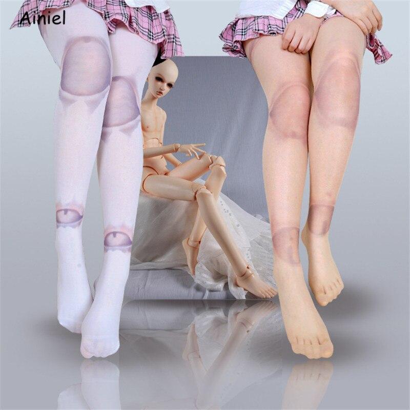 Anime Schöne Kugelgelenk Puppe SD Strumpfhosen Strumpfhosen Nette Socken 2 Farben Kühlen Lolita Lange Strümpfe Zwei styles Weiß Für frauen Mädchen