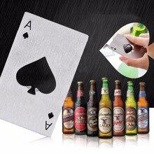 1pc nuevo estilo gran oferta jugando a Poker tarjeta Ace de espadas Bar herramienta Soda abrebotellas de cerveza regalo nueva llegada