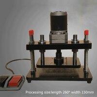 New 110-220V 200W Electric Standard Small Die Cutter Press EVA PVC Die-cutting Machine Leather Flattening Machine (260*150mm )