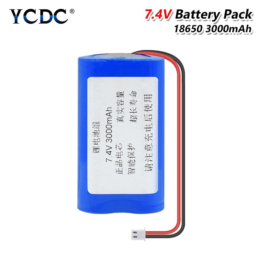 YCDC 7,2 V/7,4 V 18650 batería de litio 3000mAh pack de batería recargable con XH enchufe para luz LED tablero de protección del altavoz