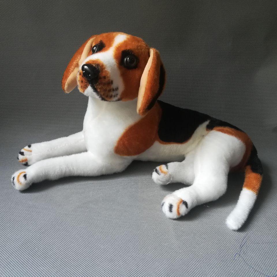 Juguete de la vida real de 36cm tumbado beagle juguete de peluche de perro suave muñeca bebé Regalo de Cumpleaños h2349