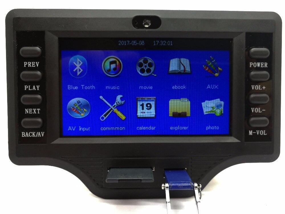 Pantalla LCD de 12 V-24 V, pantalla LCD de 4,3 pulgadas, placa decodificadora de audio y video Bluetooth, ajuste de sonido alto y bajo, Bluetooth MP4MP5