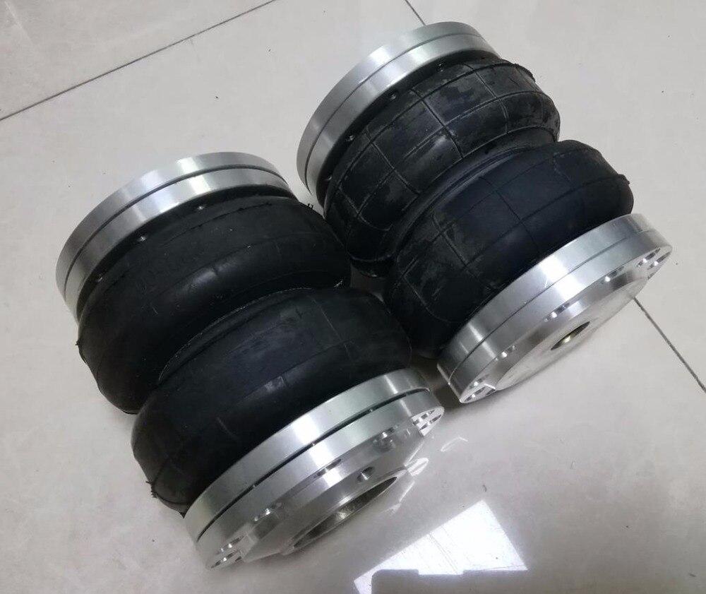 2 uds. Bolsas de suspensión de muelles universales medidor de diámetro 140mm 2 diámetro máximo enrevesado 165mm 7 bar puede cargar 800kgs