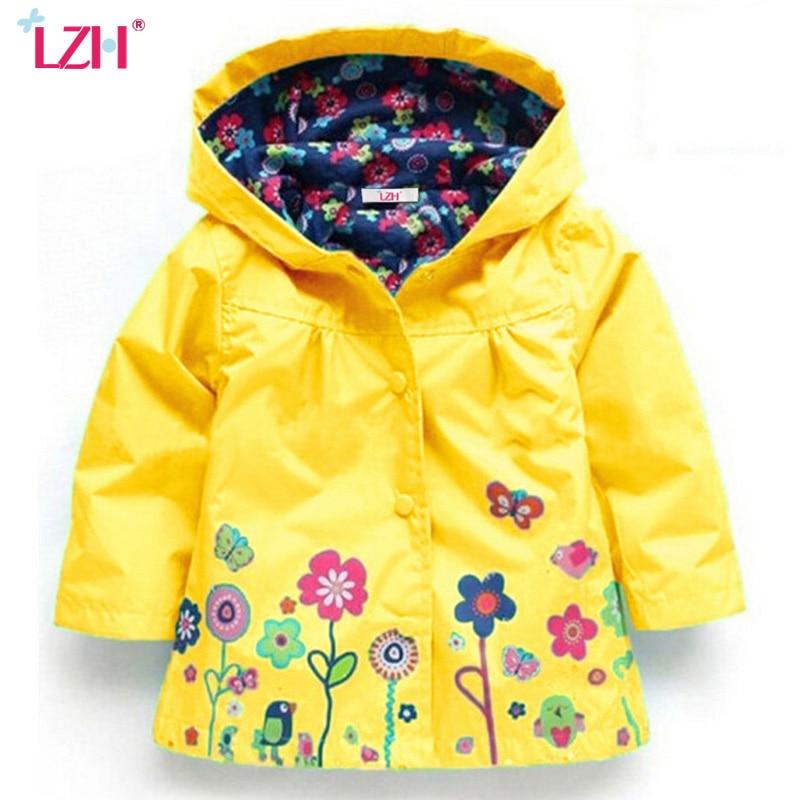 Baby Girls Windbreaker 2019 Autumn Jackets For Girls Trench Coat Raincoat Kids Outerwear Coat For Girls Jacket Children Clothes
