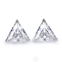 2pcspack one pair of ef white color 9x9mm excellent straight triangle cut moissanites gem stones for earrings