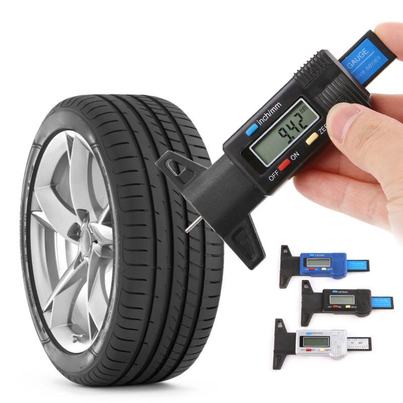 Digital Car Tyre Tire Tread Depth Gauge LCD Display Depth Vernier Caliper 0-25mm