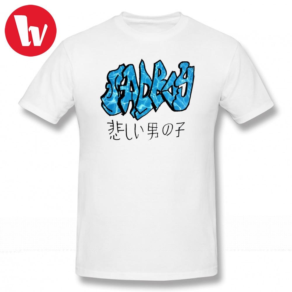 Camiseta para niño triste, camiseta con diseño de agua SADBOY, camiseta estampada con letras para hombre, Camiseta extragrande de algodón, camisetas de gran tamaño al por mayor