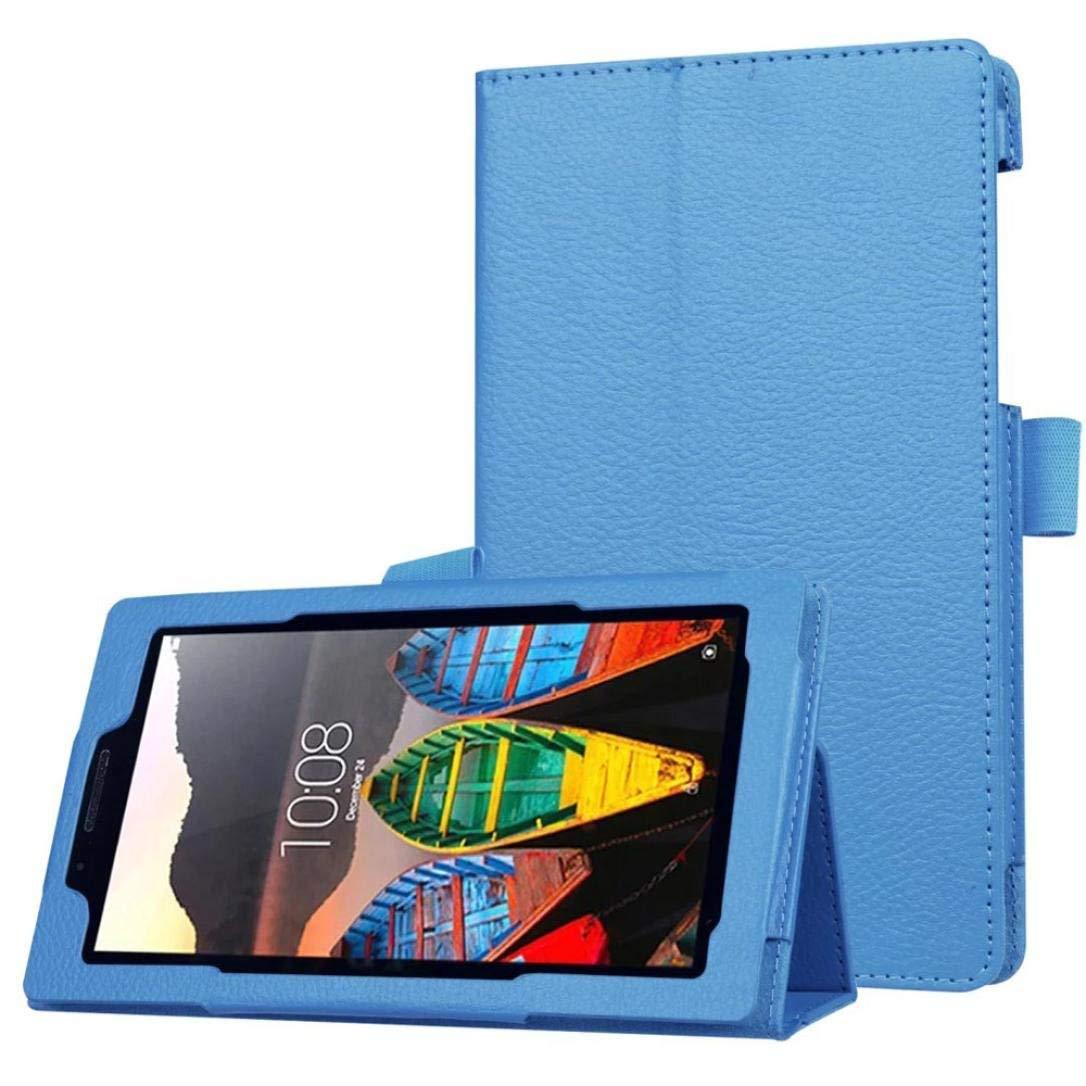 """Ince Katlanır PU Deri Kılıf için Lenovo Tab 3 7 Temel 710F 710I Kapak Standı tablet kılıfı için Lenovo Tab3 710F 7.0 """"çapa funda"""