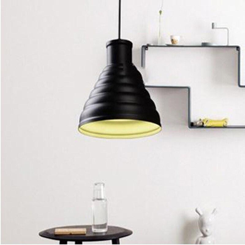 مصباح LED حلزوني برأس معدني حديث وبسيط ، طلاء أسود ، تصميم دور علوي صناعي ، ديكور مطعم ، لمبة E27