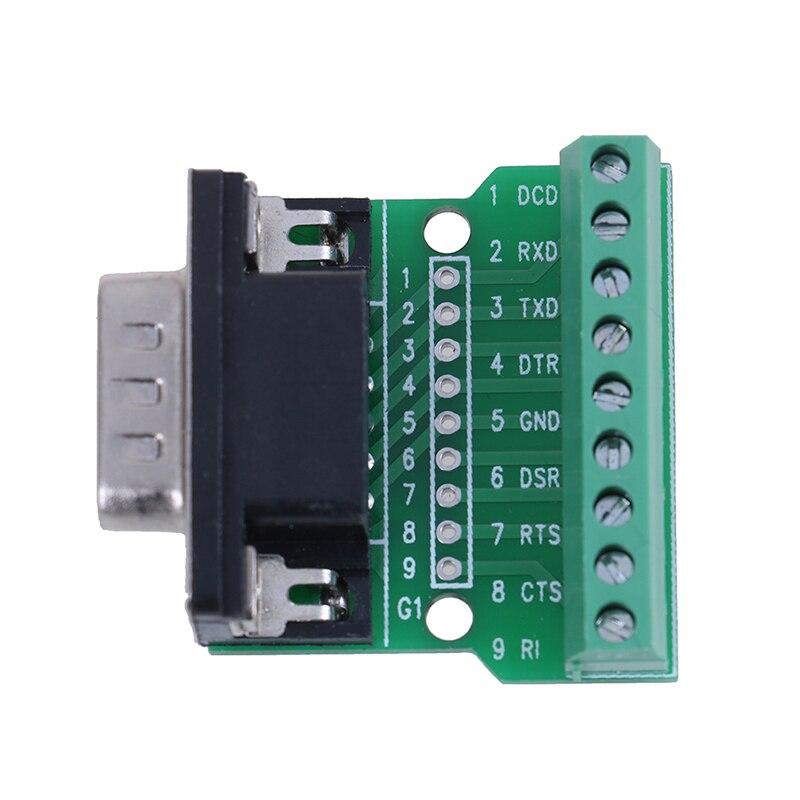 1pc novo 9pin D-SUB db9 rs232 solderless conectores de série para terminal adaptador venda quente