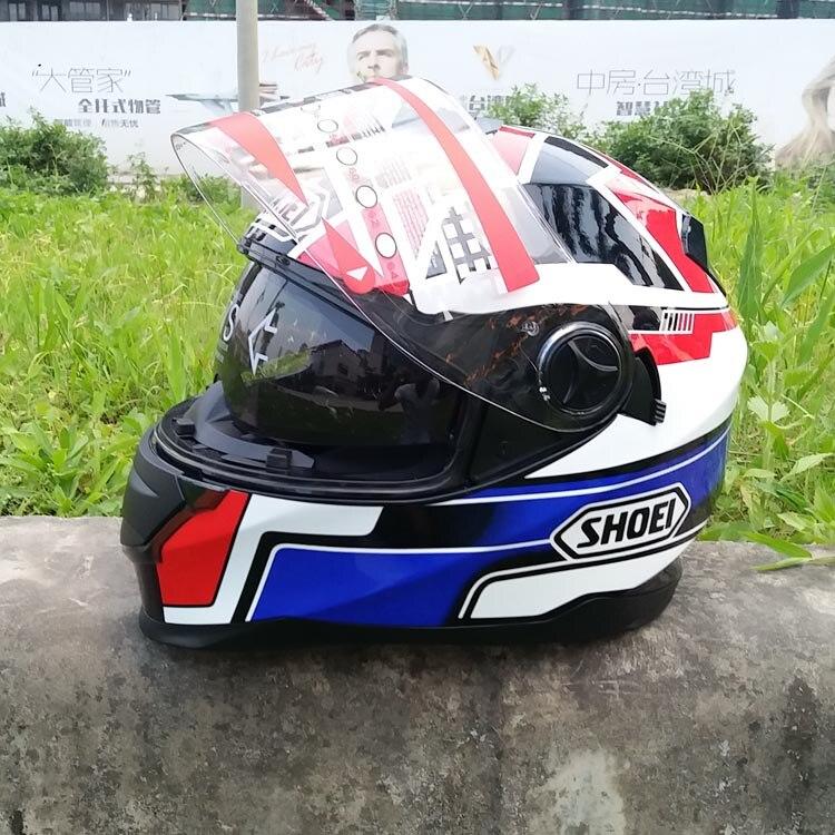Новый мотоциклетный шлем с двумя объективами для гонок по пересеченной местности, Термальный шлем для бега, полный шлем