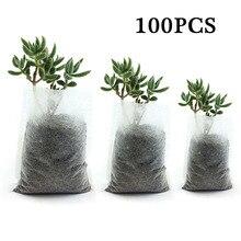 100 pièces jardin pépinière sacs plante cultiver semis biodégradable tissus Pots élever écologique aération plantation sacs fournitures