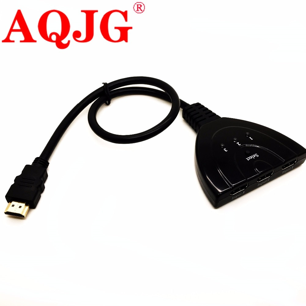 Alta calidad hdmi hub 3 puertos 1080P 3D conmutador HDMI Switch Splitter...