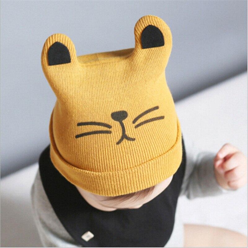 Gorra de algodón para bebé de otoño e invierno, gorro para niños, gorros tejidos para niños y niñas, gorros y gorros para niños