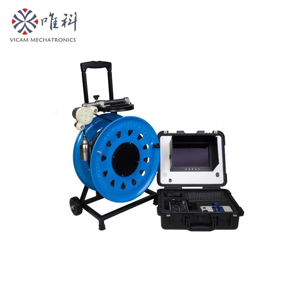 Vicam 150mtrs HD imagen impermeable 10 bares cámara de agua para inspección de pozos V10-100