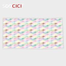 Serviette de bain/petite serviette Ultra douce   Serviette personnalisée, décor à cercle géométrique, formes circulaires douces avec éléments détoile, rayonnement inhabituel