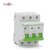 3 Pole 50A MCB Miniature Circuit Breaker 4.5KA C Type AC 110V/230V/400V With CE Certificate TOMG3-63