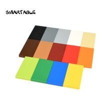 Smartable Tile 2x4 with Groove Flat Studs Building Blocks MOC Parts Toys Compatible Major Brands City 87079 Toys 100pcs/lot